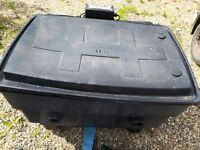 Yamitsu 55 pond filter and uv light. Box is 3' x 2'.x 2'