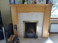 Wooden fire surround / Mantlepiece