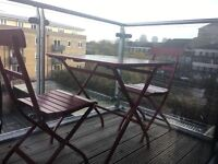 Table and two chairs IKEA MÄLARÖ