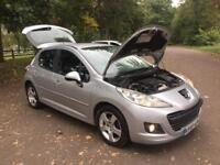 PEUGEOT 207 SPORTS 1.6 HDI 90 (2009) 2 OWNERS 5 DOOR SILVER £30 ROAD TAX 12 MONTHS MOT