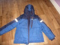 NEXT BOYS BLUE COAT WITH ORANGE INNER 3 IN 1 AGED 7-8 £15.00 ONO