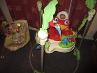 Fisher Price Jumperoo & Woodsy Friends Comfy Time Bouncer in very good condition pick up from SE14
