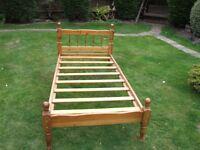 Single Pine Bed.