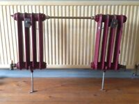 Victorian cast iron radiator and towel rail