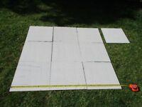 Ceramic square bathroom floor tiles in high gloss/matt finish