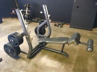 Decline bench press, heavy duty commercial gym equipment