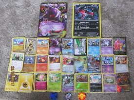 142 Pokemon Trading Card Collection including rare cards