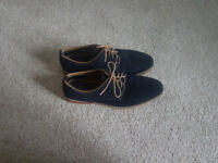 Mens Dark Blue Smart Casual Shoes Size 11