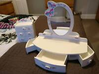 Kids dressing table mirror / jewellery box