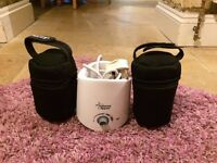 Tommee Tippee Bottle Warmer and Insulation bottle holdersx2