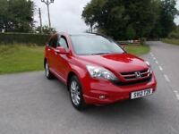 2012 12 HONDA CR-V 2.2 I-DTEC EX 4X4 IN BRIGHT RED WITH FULL BLACK LEATHER CALL 07791629657