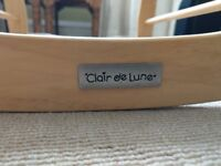 Clair de Lune Deluxe Rocking Moses Basket Stand (with free moses basket)