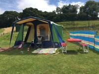 SunnCamp Retreat 6 steel frame canvas tent