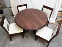Solid Wood Stylish Round Dining table! 4 chairs available!