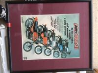Very rare Moto Morini advertising poster