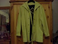 ladies leather jacket, lambs leather , hardly worn