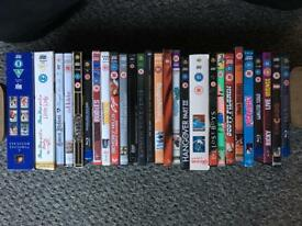 Assorted dvds and blue ray
