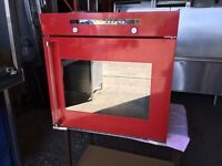 BAUMATIC TG2 CERAMIC HOB & TG1 OVEN RED