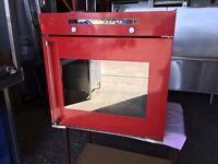 BAUMATIC TG2 CERAMIC HOB & TG1 OVEN RED