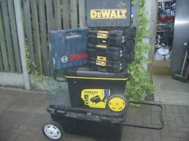 Stanley/DewaltToolboxes lot please read for condition