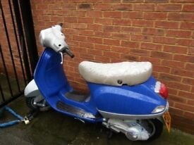 Vespa LX50 2009 With New LX125 Engine 12,000KL. 125 reg as 50. Log Book And Key