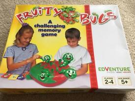 BRAND NEW Fruity bugs game. Never been opened brand new. A great memory game for up to 4 players.