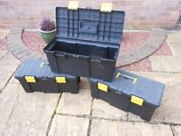 """3 Stanley 20"""" tool boxes. Good condition."""