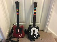 2 x PS2 guitar hero controllers