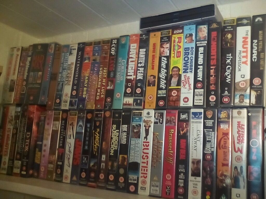Vhs tapes mostley action original tapes