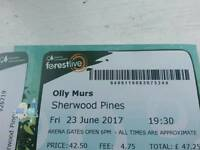 Ollie murs tickets x3