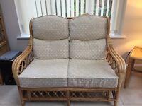 Daro cane 2 seater sofa & chair