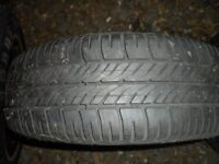 2 new 175 65 14 on vauxhall rims new ford rim and tyre
