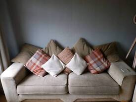 Settee, chair and footrest