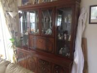 Extra large dresser with glass cabinets