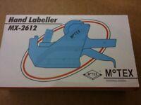 motex hand labeller mx-2612 new x6