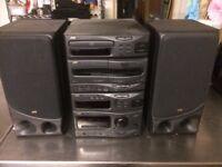 JVC radio Stereo , Tape (2) CD FM good speakers
