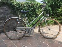 """Ladies Raleigh bicycle, 26 """" wheels, with Sturmey Archer 3 Speed and dynamo lighting.Tidy condition."""