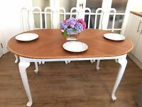 QUEENS ANNE VINTAGE TABLE EXTENDABLE FREE DELIVERY LDN🇬🇧