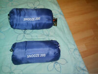 Walking sticks, collapsible(x2) ; Sleeping bag(x1)