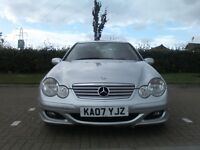 Mercedes c 220 cdi se coupe diesel automatic-manual paddle shift full two tone leather 2007