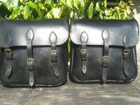 top quality handmade genuine leather saddle bags