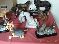 Selection of new mainly Animal statues