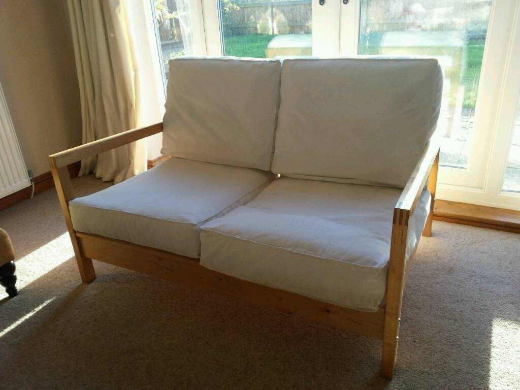 Sofa Ikea Wooden Frame Two Seater In Swindon Wiltshire