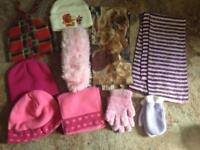 Children's hats , scarves and gloves