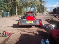 large trailer with wooden floor