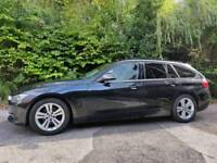 Black BMW 3 Series, 2.0 318D Sport Touring (Estate) 5 door - late 2012 - F31