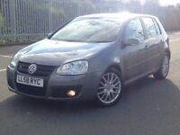 2009 (Jan 09) VOLKSWAGEN GOLF GT 2.0 TDi - 5 Dr - DIESEL -Manual-GREY *1 OWNER/FULL HISTORY/H-SEATS*