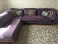DFS Corner Sofa purple