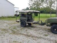 10KW military generator on military trailer