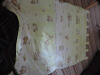 Kids curtains - light green with teddy bears. Used but in good condition